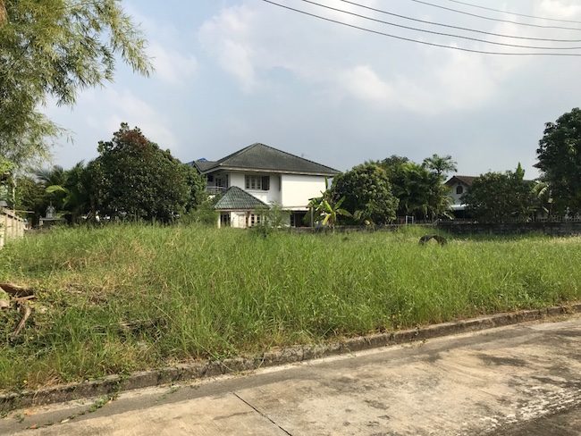 For SaleLandBang kae, Phetkasem : Land in the village of Supalai Orchid Park 1 83 sq m., Bang Khae Thom area, beautiful plot, good location near The Mall Bang Khae