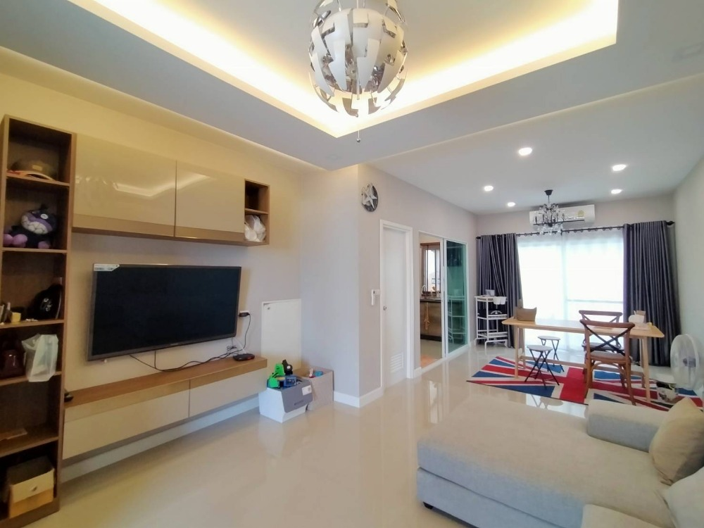 For RentTownhouseBangna, Lasalle, Bearing : For rent now! 3-storey townhome PATIO Patio Bangna-Wongwhaen Beautiful house ready to move in.