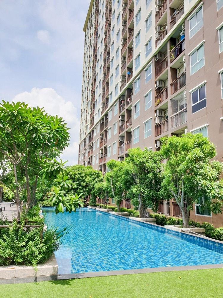 For SaleCondoSamrong, Samut Prakan : Condo for sale The Parkland Lite Sukhumvit - Pak Nam, next to BTS Pak Nam, new room, river view, ready to move in.