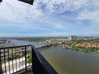 เช่าคอนโดรัตนาธิเบศร์ สนามบินน้ำ พระนั่งเกล้า : ให้เช่าคอนโด politan rive ขนาด 60 ตร.ม.ชั้น 35 2 ห้องนอน 2 ห้องน้ำ ตำแหน่งหน้าแม่น้ำ สวย