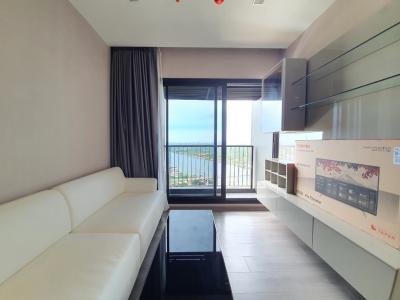 เช่าคอนโดรัตนาธิเบศร์ สนามบินน้ำ : ให้เช่าคอนโด politan rive ริมแม่น้ำเจ้่าพระยา แบบ 2 ห้องนอน วิวแม่น้ำ ตกแต่งสวย ครบพร้อมอยู่ ห้องใหม่