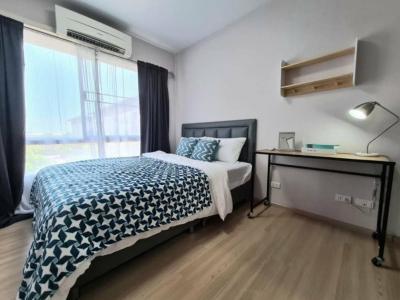 For RentCondoLadprao101, The Mall Bang Kapi : Beautiful room for rent, Plum Ladprao 101, Building A, 4th floor, corner room