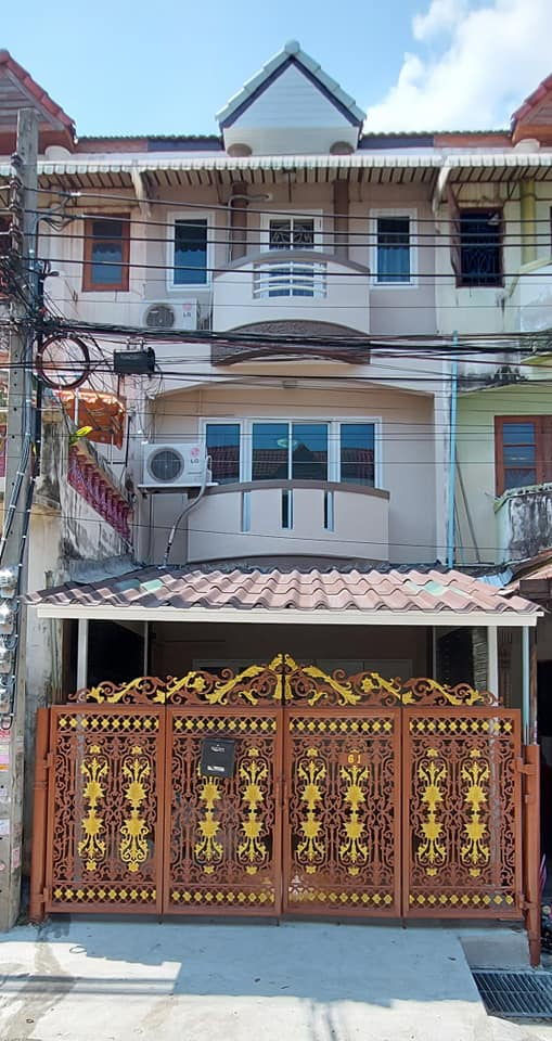 For RentTownhouseDaokanong,Bang Bon : Sale, rent, installment, direct landlord, 3-storey townhome, Mueng Thong, Kamnan Maen 13, 33 intersection, suitable for home office