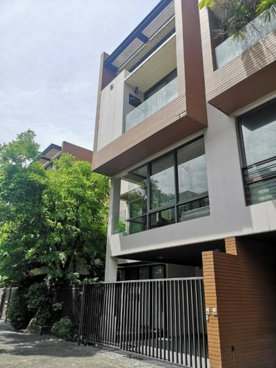 For RentHouseRama3 (Riverside),Satupadit : 4 storey detached house for rent, beautiful decoration, Soi Yen Akat Area 36 sq m, usable area 350 sq m. AN089