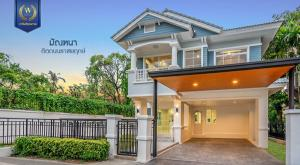 For SaleHouseBangkruai, Ratchapruek : For Sale - Newly decorated single house, Manthana Village, Ratchapruek, area 85 sq.wa., behind the corner of the soi, 3 bedrooms, 3 bathrooms, ready to move in