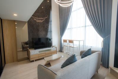 For SaleCondoSathorn, Narathiwat : Sale / Rent: Fully furnished Duplex 1 bedroom 1 bathroom 38 sq.m. River view high floor!