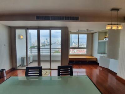For RentCondoRama3 (Riverside),Satupadit : For rent room 21st floor, river view, sky garden, River Heaven - Charoen Krung