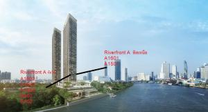 For SaleCondoWongwianyai, Charoennakor : River front2bed 75.6 sq m A1601 and A1602