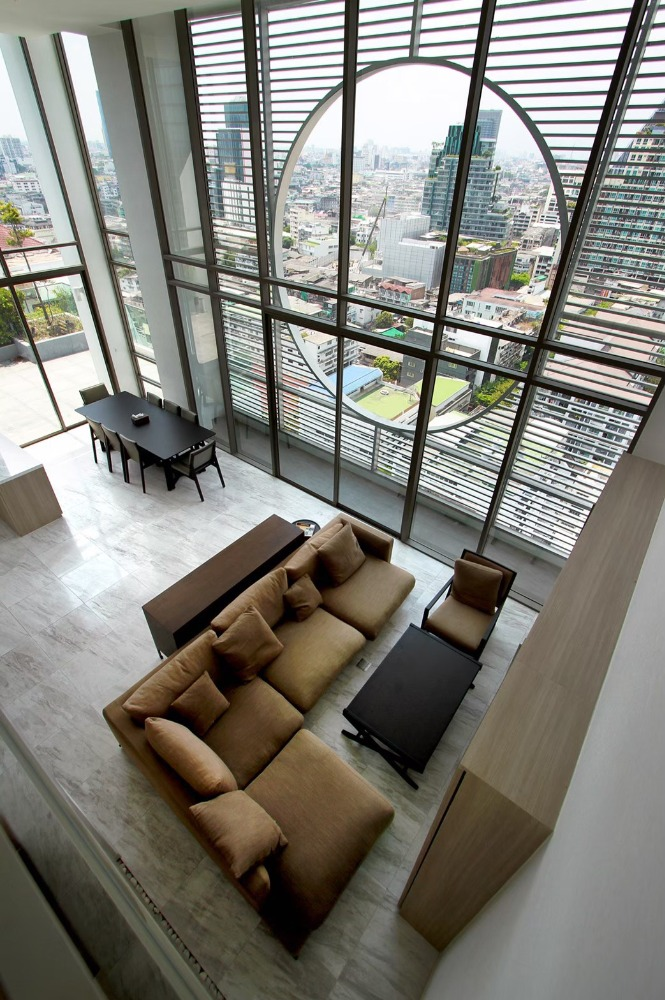 For RentCondoSilom, Saladaeng, Bangrak : For Rent Siamese Surawong Duplex penthouse with fully furnished