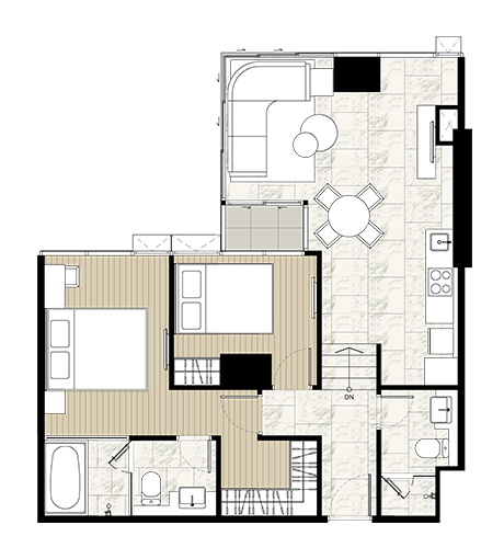 For SaleCondoSilom, Saladaeng, Bangrak : Last minute !! The last room for sale, Ashton Silom, 2 bedrooms, 72.54 sqm., High floor, city view, very beautiful !! This price can not be found.