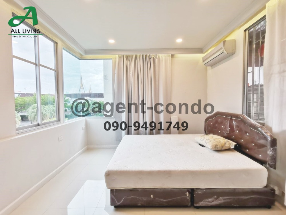 For RentTownhouseRama3 (Riverside),Satupadit : Rent 3-storey townhouse, Baan Klang Krung, Grand Vienna, Rama 3