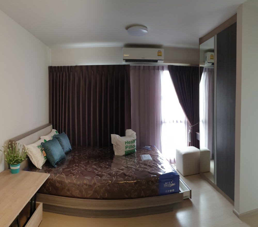 For RentCondoBangna, Lasalle, Bearing : Furnished room Can carry the bag and move in