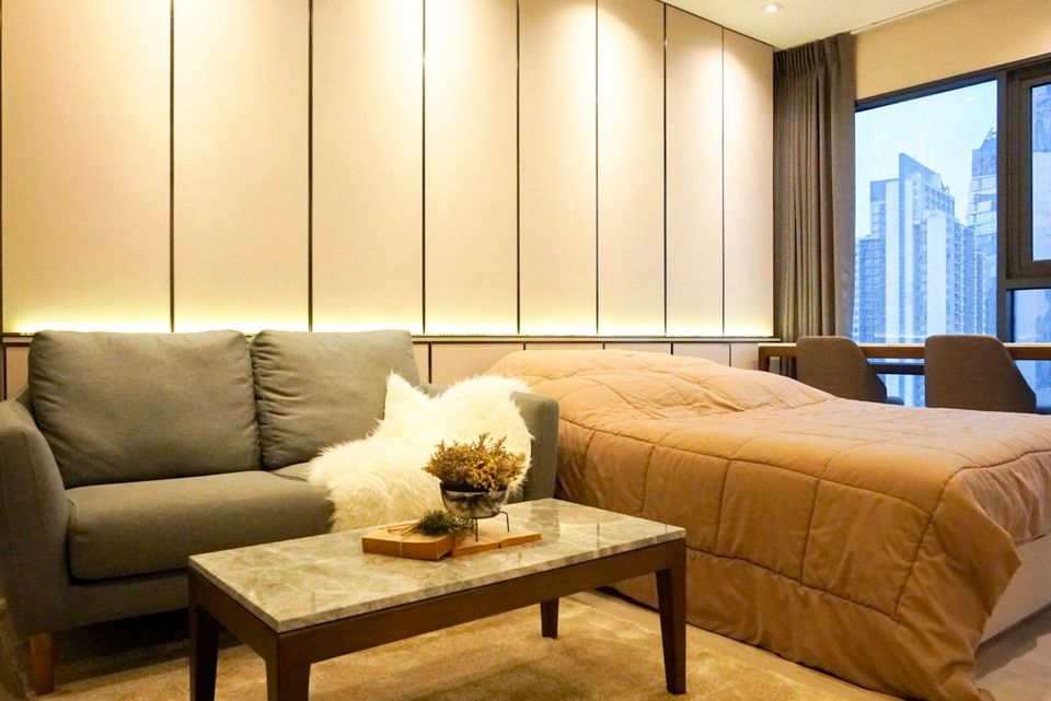 For RentCondoSukhumvit, Asoke, Thonglor : For rent, Rhythm Sukhumvit 36-38, beautiful room, ready to move in, near BTS Thonglor