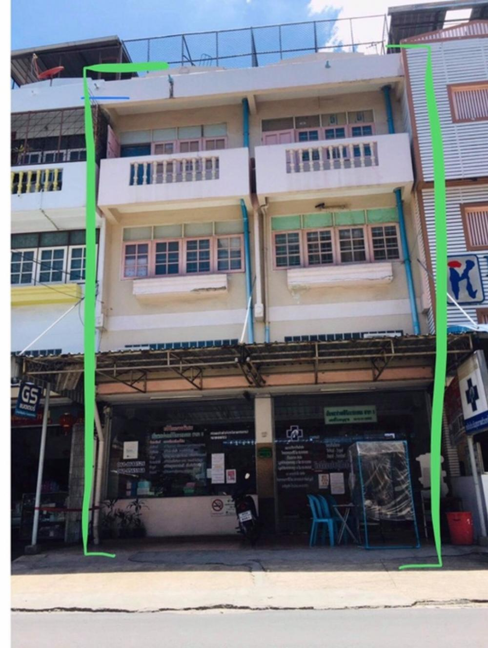 For SaleShophouseLadprao 48, Chokchai 4, Ladprao 71 : Selling a 4-storey commercial building, 2 booths, Chokchai 4, Soi 72