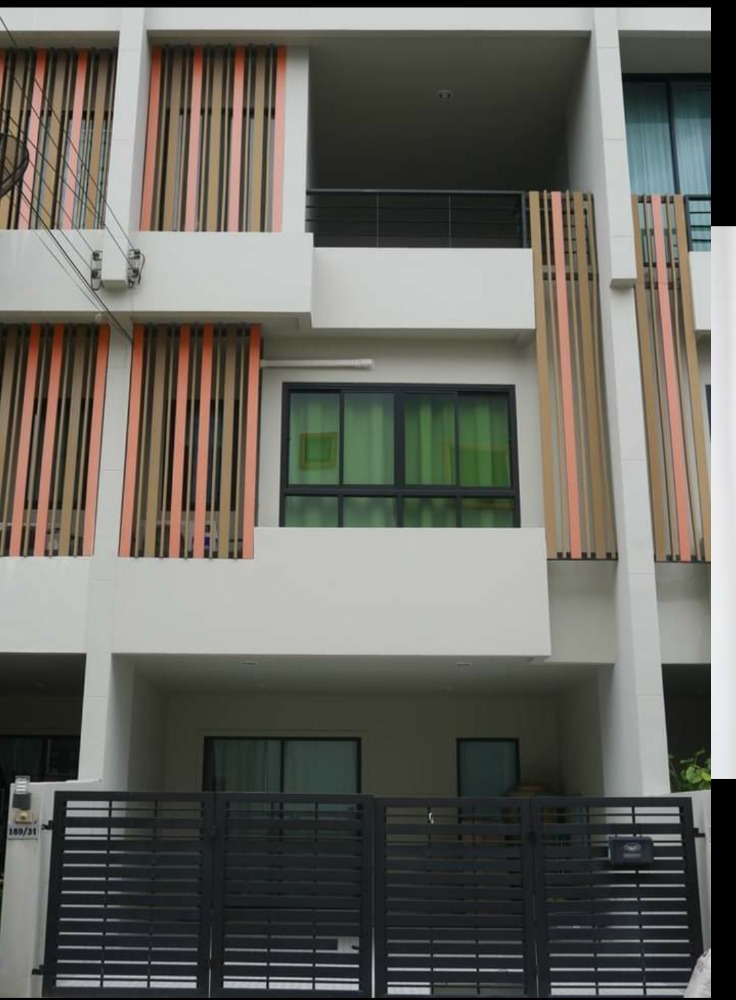 For RentTownhouseKaset Nawamin,Ladplakao : New 3-storey townhome for rent, 3 bedrooms, 4 bathrooms, Soi Nawamin 163, Nuanchan 36, near Ramindra.