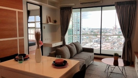 For SaleCondoRatchathewi,Phayathai : *** Urgent sale !!! Baan Klang Krung, 1 bedroom, 55 sq m, fully furnished, high floor, unblocked view ****
