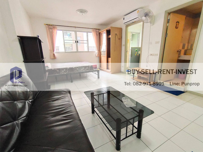 For RentCondoOnnut, Udomsuk : Condo for rent, Lumpini Center Sukhumvit 77, Studio room, Building A, Floor 6, ready to move 7,500 baht / month