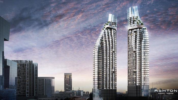 Sale DownCondoRama9, RCA, Petchaburi : Condo for sale before transfer Ashton Asoke - Rama 9, 2 bedrooms rare unit on high floor