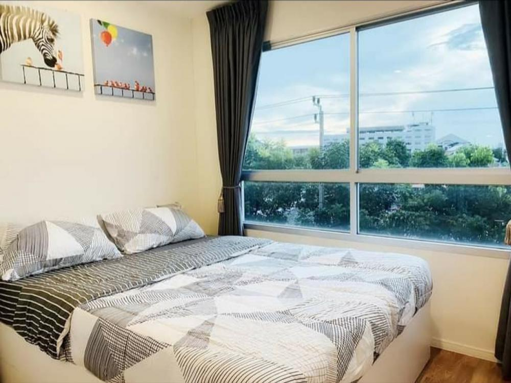 For RentCondoSamrong, Samut Prakan : Condo for rent, very well decorated room, urgently book, Lumpini Sukhumvit 76, 1 bedroom partition with electrical appliances Bedding set Can go in
