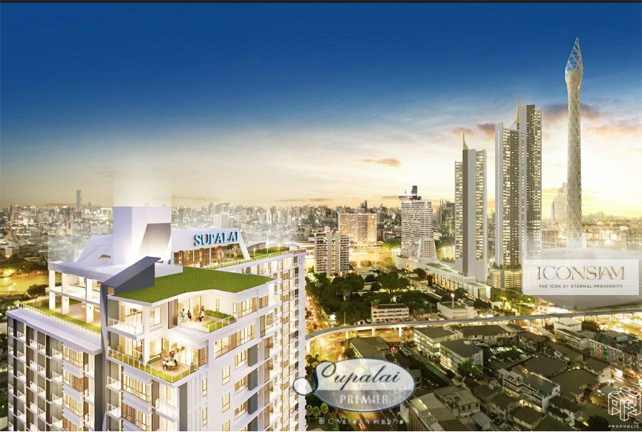 For SaleCondoWongwianyai, Charoennakor : *** Floor 1x floor ICONSIAM City Observatory the unity tower VIEWSIDE ✦ 5.99MB ✦ SALE Supalai Premier Charoen Nakhon ICONSIAM 48sq.m (Supalai Premier Charoen Nakhon) next to BTS Khlong San, a condo suitable for investment | Supalai ICONSIAM