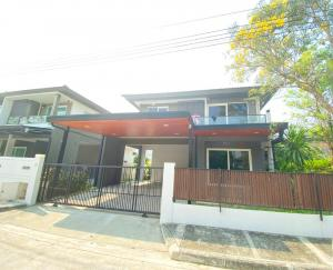 For SaleHouseBangbuathong, Sainoi : Quick loss sale !!!! 2-storey detached house, Chaiyapruek Village, Pinklao-Kanchana, Soi Kantana, size 54 sq.w., 3 bedrooms, 3 bathrooms, close to Central Westgate and BTS.