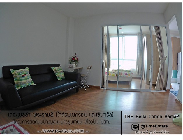 For RentCondoRama 2, Bang Khun Thian : For rent: The Bella, Bella Rama 2 Condo Bang Khun Thian, near Central Nakhon Thon Hospital, with washing machine and Wifi Free.