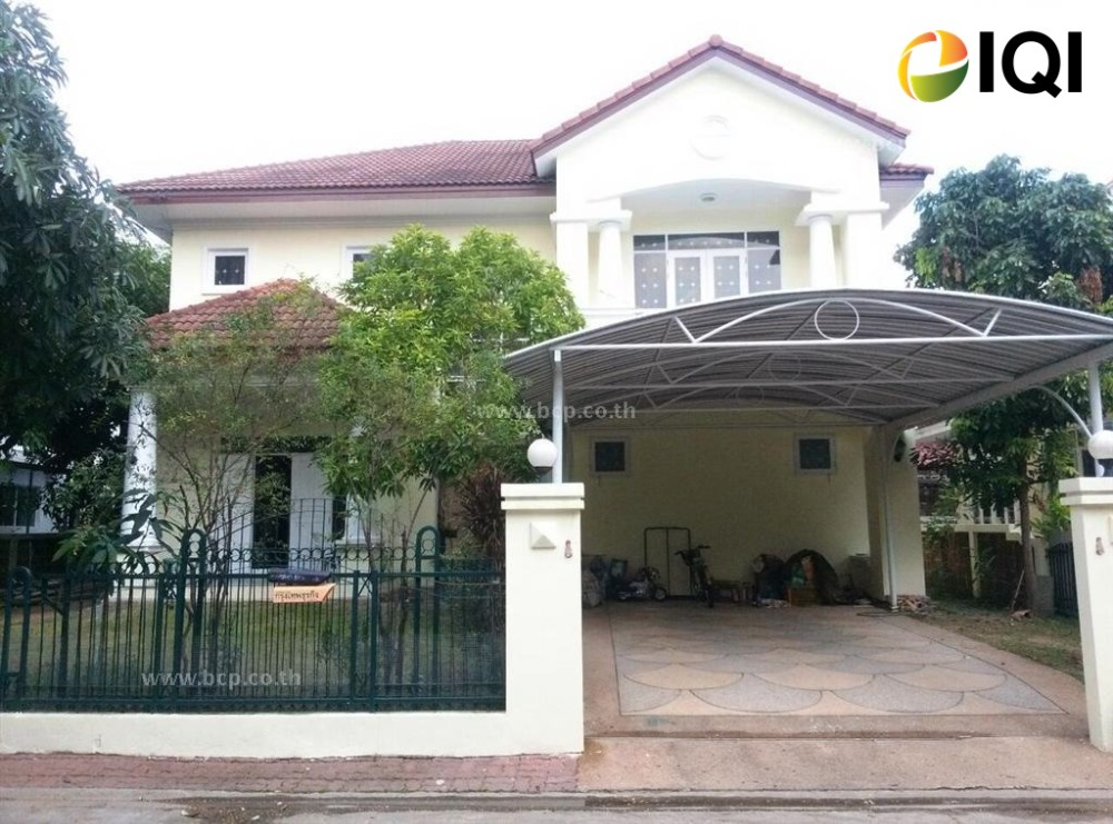 For SaleHouseRathburana, Suksawat : House for sale, Manthana Village, Pracha Uthit, near the Kanchanaphisek Ring Road, Bhumibol 1 Bridge and Bhumibol 2 Bridge