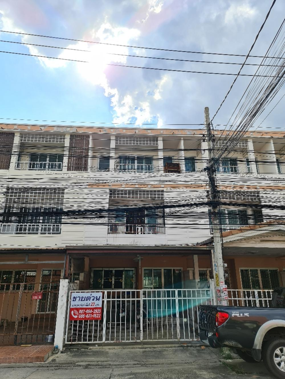 For SaleTownhouseVipawadee, Don Mueang, Lak Si : Only 6 minutes to BTS Kopo intersection, 3-storey townhome, Ratchathani Village, 7 Sai Mai, near Don Mueang, Saphan Mai, Lam Luk Ka