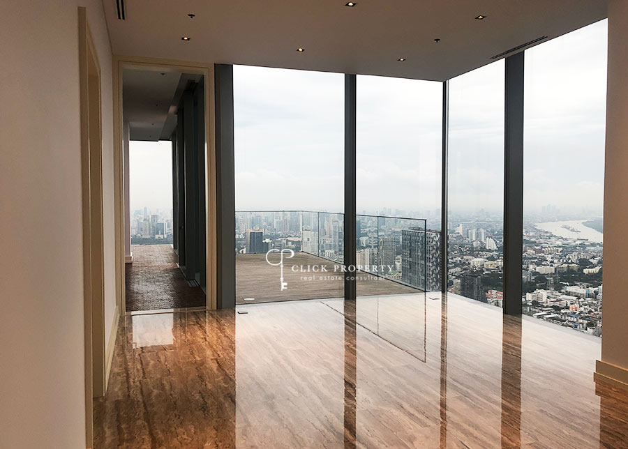 For SaleCondoSathorn, Narathiwat : | PENTHOUSE | FOR SALE & RENT For Sale & Rent The Ritz-Carlton Residences at MahaNakhon SELL 180degree breathtaking view of city and rivers 4bedrooms plus maid freehold super luxury class residences in bangkok