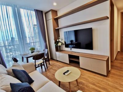 For RentCondoSukhumvit, Asoke, Thonglor : For rent: Noble BE33, NEW unit for 1st tenant. 2 BR/2 B, 53 sqm, Fl.20th+, Unblock view, Sukhumvit 33, BTS Prompong