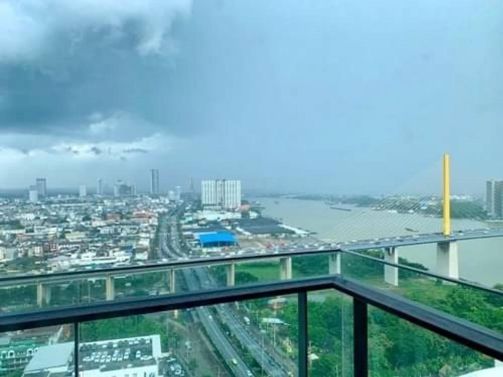 For SaleCondoRama3 (Riverside),Satupadit : Sale Star view 2 bed 77 sqm. Building A, 32nd floor, position A5, beautiful room, view of the Chao Phraya River, 9.95 million.