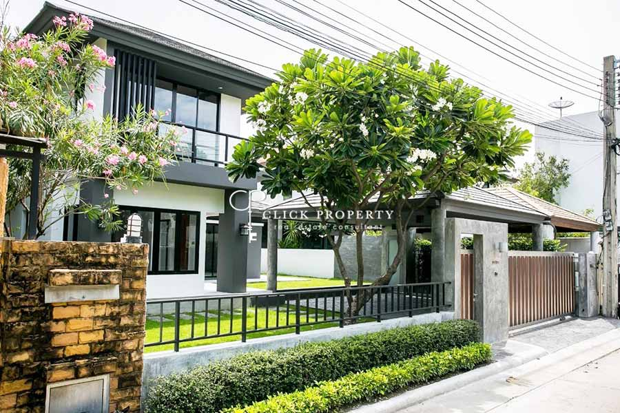 For SaleHouseYothinpattana,CDC : ✦ 4beds 5baths 300sqm ✦ Sale 2 storey detached house Private Nirvana Residence North (Private Nirvana Residence Village) close to Central Festival East Ville, Chic Republic, Lertlah Kaset - Nawamin School