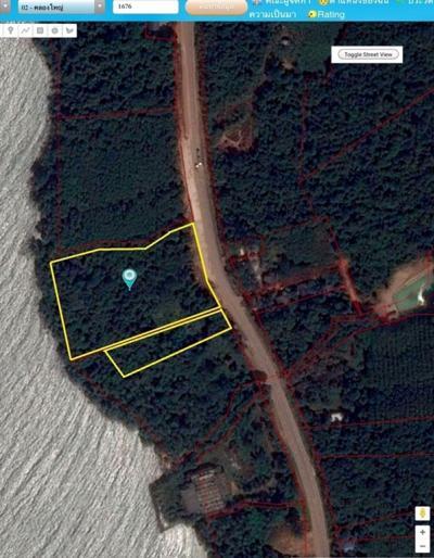 For SaleLandTrat : Land for sale / rent 14 rai, next to the sea, next to Sukhumvit Road, Klong Yai District, Trat.