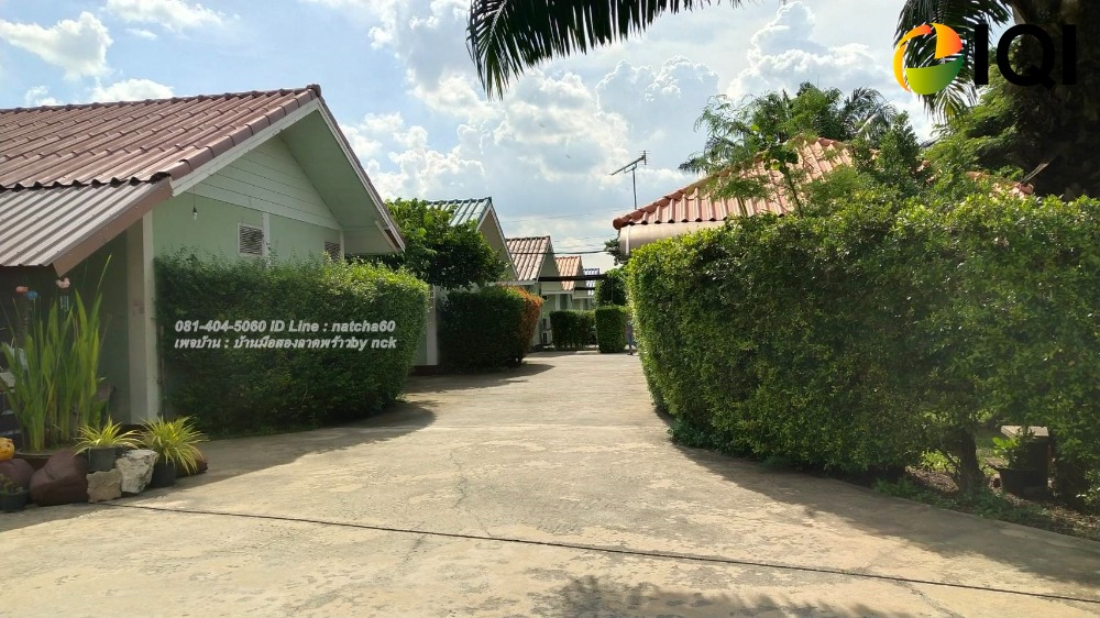 For SaleBusinesses for saleRamkhamhaeng,Min Buri, Romklao : Land for sale with a small resort on the new Nimit 59 road, just 100 meters into the alley, near Nimit Mai Police Station.