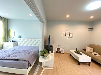 For RentCondoLadprao101, The Mall Bang Kapi : Rent Happy condo Ladprao 101, 37 sqm., Complete electrical appliances North is not hot, refurbished for 10,000 ฿