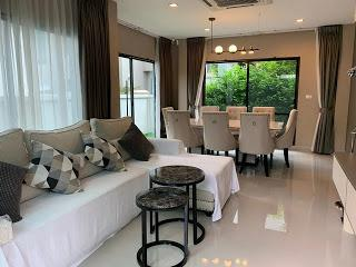 For SaleHouseRama9, RCA, Petchaburi : House for sale, Life Bangkok Boulevard Project, Rama 9 Ring Road, Kanchanaphisek Road, 52 sq m, 4 bedrooms *** beautiful house, new decoration.