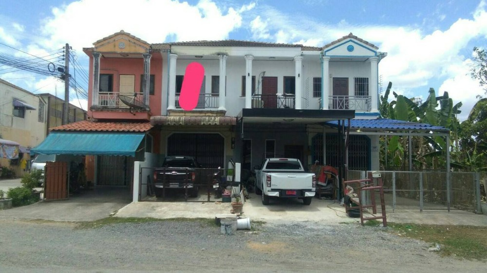 For SaleTownhouseSongkhla : 2 storey townhouse for sale, next to Khuan Lang Road - Ban Pru, Hat Yai, Songkhla