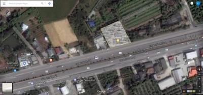 For SaleLandPhutthamonthon, Salaya : Land for sale 1 rai 2 ngan 74 square meters on Borommarachonnani Road Near Central Salaya