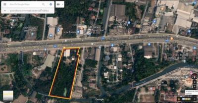 ขายที่ดินพุทธมณฑล ศาลายา : ขายด่วนที่ดินติดถนนเพชรเกษมเกือบ 8 ไร่ หายาก ใกล้วัดธรรมศาลา 600 เมตร