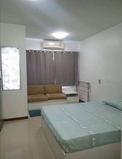 For RentCondoRama9, RCA, Petchaburi : Studio for rent, ready to move in, cheap price