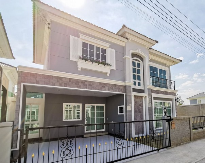 เช่าบ้านท่าพระ ตลาดพลู : RH419ให้เช่าบ้าน 3 ห้องนอน 3 ห้องน้ำ โกลเด้น นีโอ สาทร ถนนกัลปพฤกษ์ หลังมุม