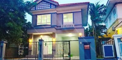 For SaleHouseLadkrabang, Suwannaphum Airport : 2-storey detached house, Perfect Park Housing, Rom Klao 64