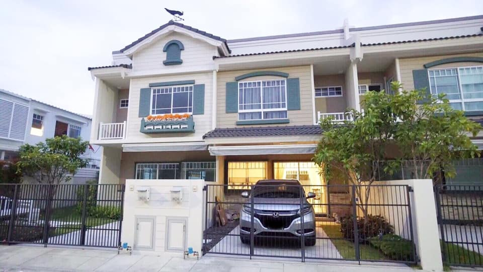 For RentHouseBangna, Lasalle, Bearing : Indy Bangna km. 7 house for rent. Near Megabangna