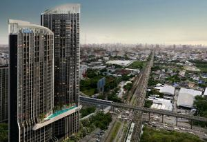 Sale DownCondoPattanakan, Srinakarin : Sale payment according to the contract page with a discount on the transfer date, The Rich Rama 9 - Srinakarin, meter center, next to the yellow line, light red line And Airport Link Huamark, Loft 1 bedroom, 31st floor Take City View, no buildings th