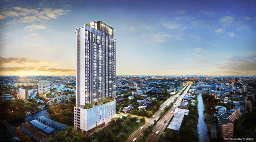 Sale DownCondoRangsit, Patumtani : Modiz Launch 22.7 / 25.9 / 28.5 Sq m / Vertical Loft, beautiful floor, good position, there are many rooms to choose from.