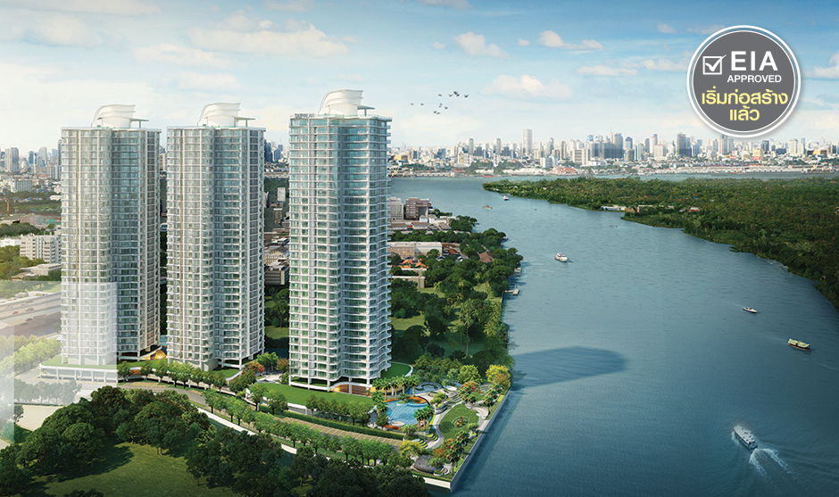 For SaleCondoRama3 (Riverside),Satupadit : Sale down payment 3 bedrooms, 3 bathrooms, building A, high floor 30 ++, river view, south, good wind.
