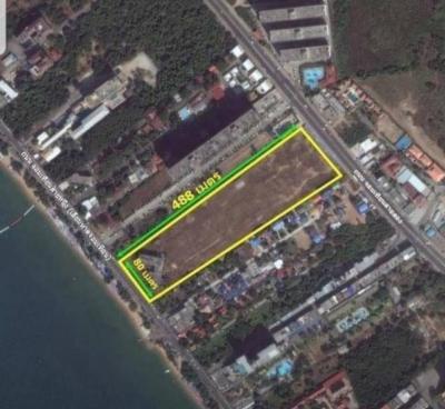 ขายที่ดินพัทยา บางแสน ชลบุรี : ขายด่วน ที่ดินทำเลทอง ติดหาดจอมเทียน 23-1-0 ไร่
