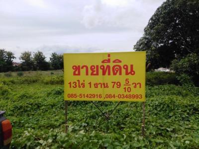 ขายที่ดินกาญจนบุรี : ต้องการขายที่ดินบนถนน เทศบาล25 (หนองตาบ่งฝั่งตัวอำเภอ) เข้าซอยไปเล็กน้อยในย่านชุมชนที่อยู่อาศัยเนื้อที่ 13ไร่ 1งาน 79.5 ตรว.