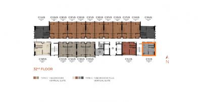 Sale DownCondoRangsit, Patumtani : Sale down payment Modiz Launch Rare Unit, 1 Bedroom Plus Vertical Suite room, only 10 units for the whole project, price 3,903,000 baht