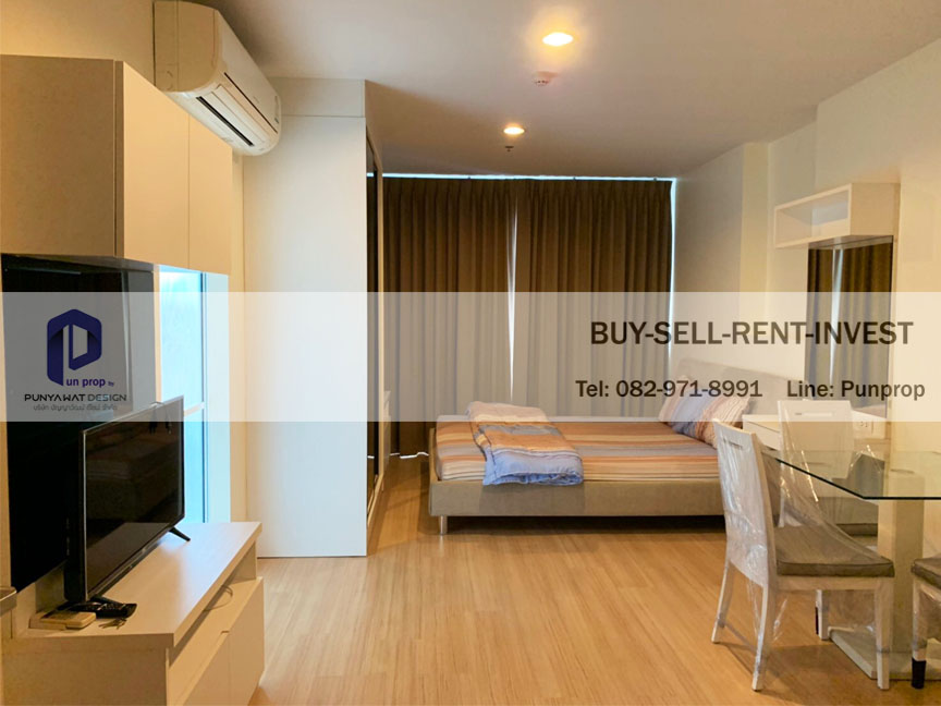 For RentCondoLadprao, Central Ladprao : Condo for rent @ Life Ladprao 18, next to MRT Ladprao, studio room, 16th floor, ready to move in, 14,000 baht / month.